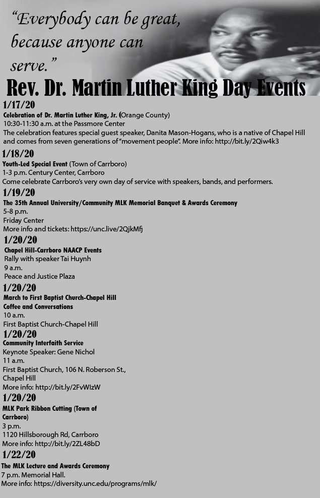 MLK 2020 events