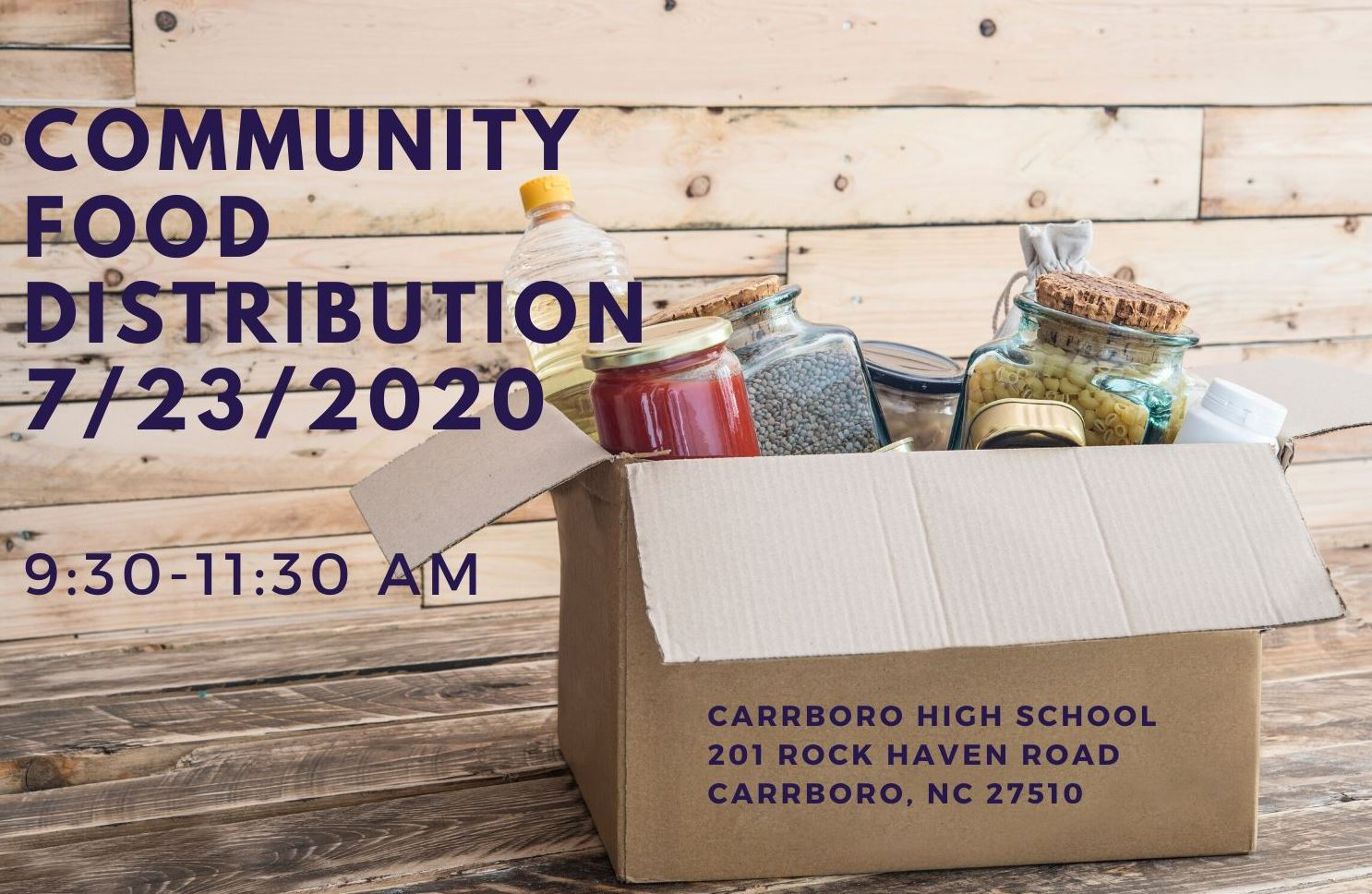 Community Food Distribution 7-23-2020 Flyer